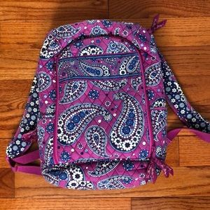 Vera Bradley Campus Tech Lilac Paisley Backpack